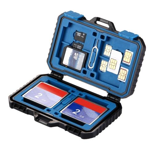 PULUZ считыватель карт памяти USB SD CF TF-считыватель с OTG Fuction и слотами Водонепроницаемый чехол для хранения SIM-карты для хранения карточек для настольных компьютеров Ноутбук и Android-смартфоны PU5002 фото