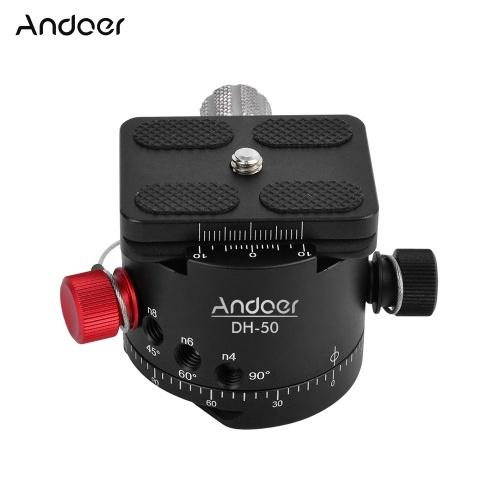 Andoer DH-50 rotule panoramique Rotation tête tête de trépied