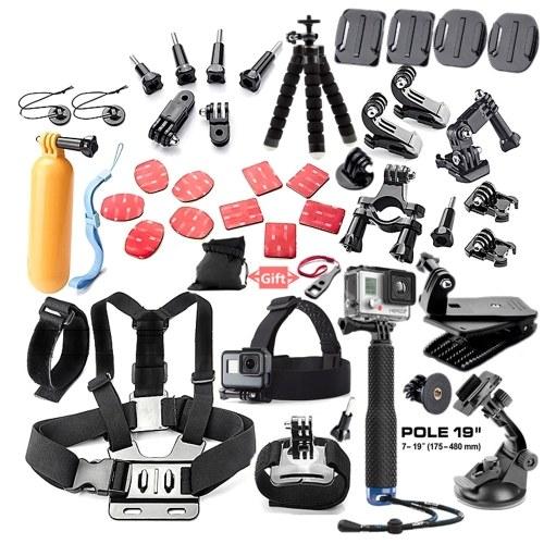 44in1 Kamera Zubehör Cam Werkzeuge für Outdoor-Fotografie Kameras Schutz Werkzeug für Gopro Hero 5 4 3 2 1 Xiaomi Yi Xiaomi Yi 4 k SJCAM SJ4000 SJ5000 SJ6000 SJ7000 EKEN H9R H8W