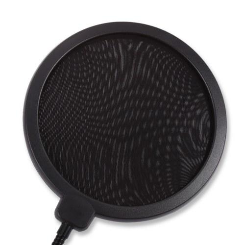 Tamanho Grande de Gravação de Dupla Camada À Prova de Pulverização Máscara Pop Filtro de Microfone Estúdio de Gravação À Prova de Ar-ao-Vivo Cobertura À Prova de Pulverização