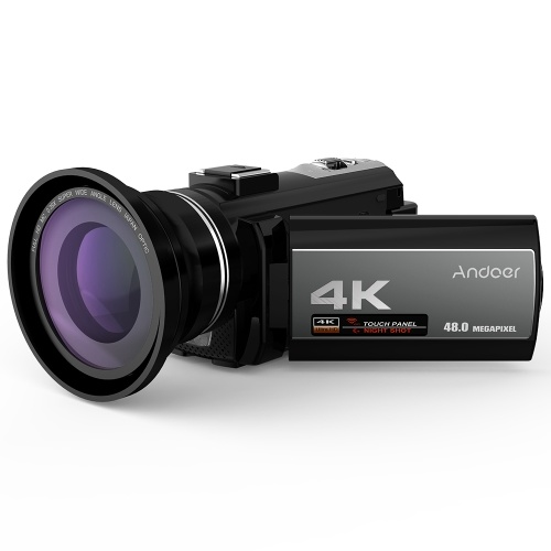 Andoer  Portable 4K  48MP WiFi Digital Video Camera Camcorder