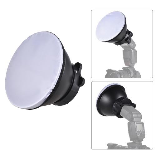 18 см рефлекторный рассеиватель лампы с мягкой тканью для Canon Nikon Sigma Yongnuo Godox Andoer Neewer Vivitar Speedlight фото