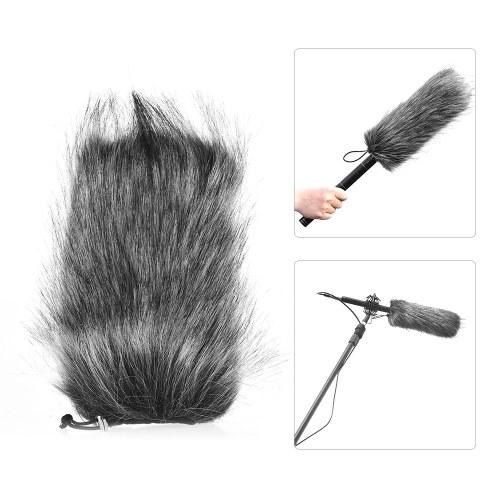 Universal Professionelles Mikrofon Furry Windschutzscheibe Flexible Mount Fur Windschutzscheibe für Rode VMGO Video Mic GO, VideoMic Pro, Micro für TAKSTAR SGC-598 598 für Sony EMC965 NV1 XM1 CG60, ect