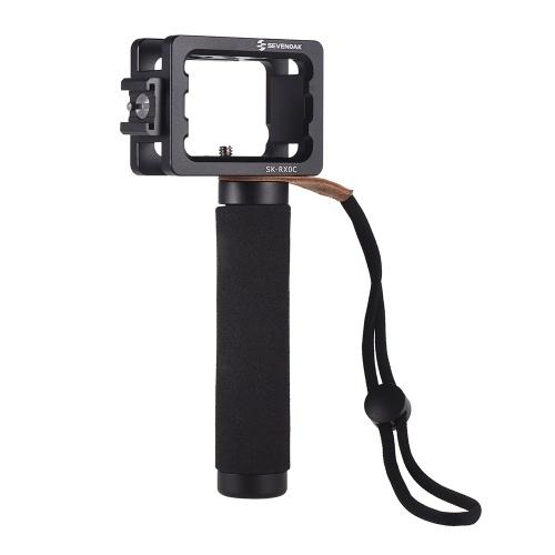SEVENOAK SK-RXOC Camera Cage lega di alluminio con impugnatura a freddo Cold Shoe Mount 1/4 pollici filetti di vite per fotocamera Sony RXO