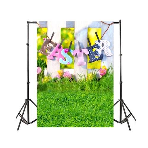 Ostern-Thema-Fotografie-Hintergrund ärgert Kaninchen-Blumen-Grasland-Baby-Kind-Foto-Hintergründe für Foto-Studio
