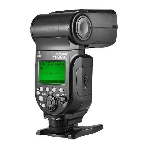 YONGNUO YN968C Wireless TTL Flash Speedlite 1/8000s HSS Built-in LED Light 5600K for Canon DSLR Cameras Compatible with YN622C YN560 Wireless System