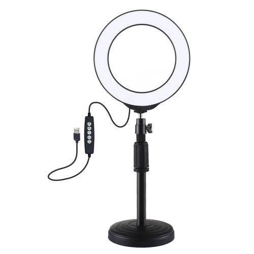PULUZ 6.2 inch 160mm USB 10 Modes 8 Colors RGBW Adjustable Dimmable LED Round Rings Vlogging Photography Lamp Video Lights