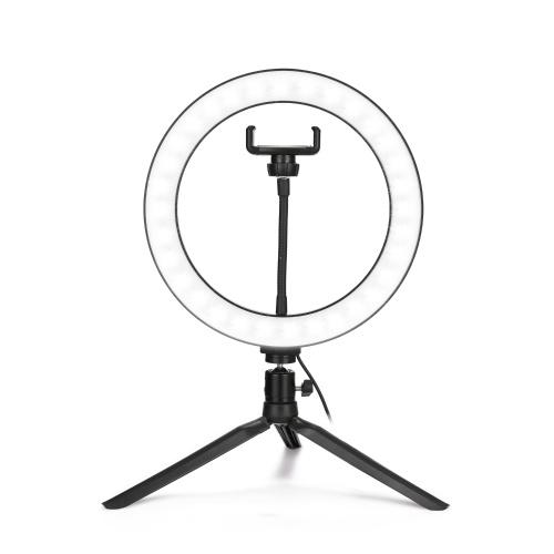 """10 """"Dimmable LED Selfie lumière ronde avec lampe réglable de luminosité de clip de téléphone"""