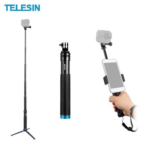 TELESIN Handheld Extendable Selfie Stick Monopod Aluminum Alloy Adjustable Pole