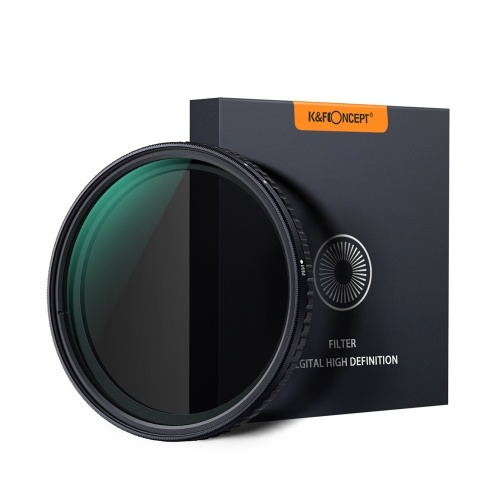 K&F CONCEPT 67mm Ultra-thin Adjustable Variable Neutral Density ND Filter Fader ND8-ND128 D6929-2
