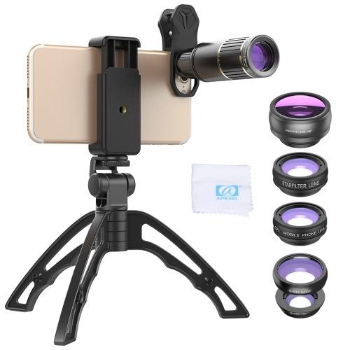 APEXEL APL-JS16XJJ04D5 Kit de lentes de teléfono 6 en 1