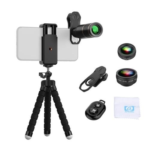 APEXEL APL-JS16XBZJ5 Kit de lentes de teléfono multifunción 4 en 1