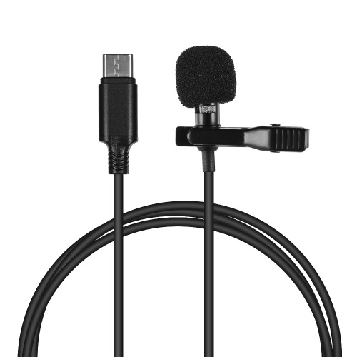 Andoer Mini Lapel Lavalier Clip-on Condenser Microphone Mic with Type-C Plug for Android Smartphone for Samsung S8 Huawei P10/P20/P30 Xiaomi 8