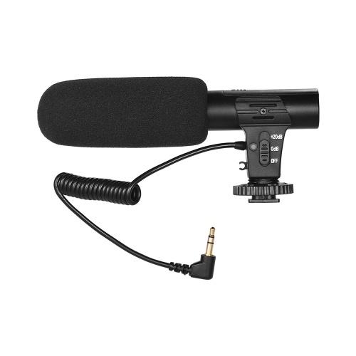Microphone d'enregistrement vidéo caméra Super-Cardioid Pickup