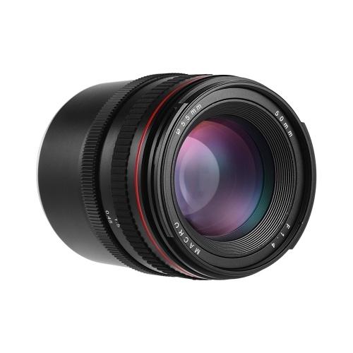 50 mm 1: 1,4-Kameraobjektiv mit großer Blende und manuellem Fokus