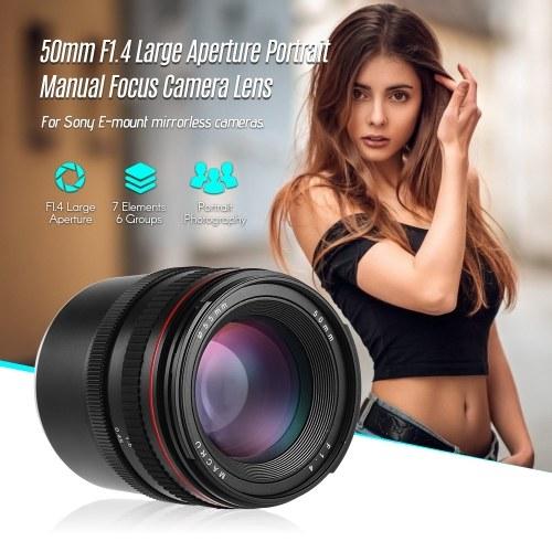 50mm f/1.4 Large Aperture Portrait Manual Focus Camera Lens