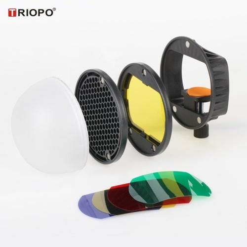 TRIOPO Speedlite Blitzlicht-Modifikator-Zubehör-Kit