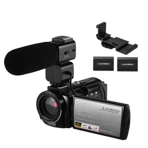 Andoer HDR-AE8 4K WiFi Цифровая видеокамера Видеокамера DV-рекордер