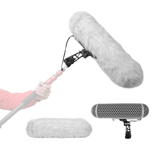 Microphone Wind Protect Cage + Windshield + Shock Mount Suspension System