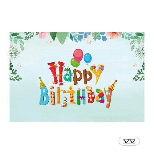# 3232 7 * 5ft joyeux anniversaire dessin animé toile de fond bébé douche enfant anniversaire photographie fond