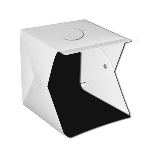 Ensemble de boîte souple multifonctionnelle de lumière LED de 0,4 m Double bande lumineuse 2 tissu de fond de couleur