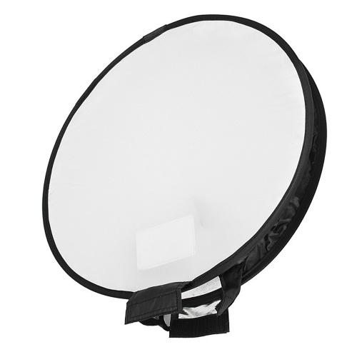 Tragbares 400 mm rundes Softbox-Blitzgerät Rundes Blitzlicht Faltbarer Diffusor mit weichem Blitzlicht