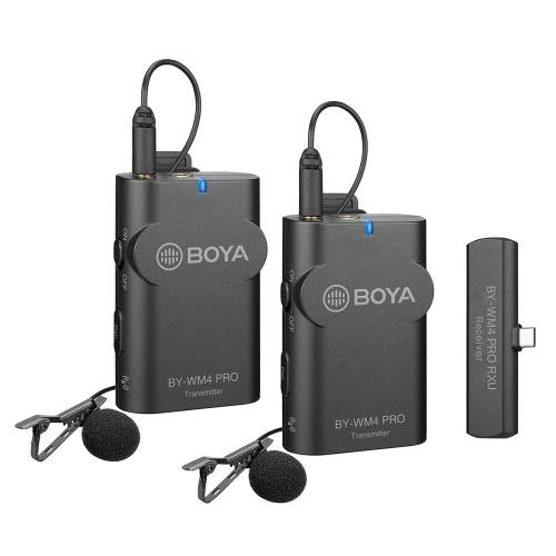Drahtloses Mikrofonsystem BOYA BY-WM4 PRO-K6 2.4G (Sender * 2 + Empfänger * 1) 60M effektive Reichweite