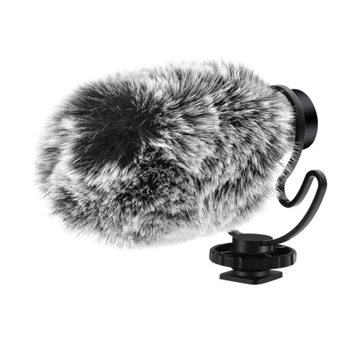 ORDRO CM-100 Mini Recording Microphone Mic 3.5mm Plug-and-Play with Shock Mount Wind Screens