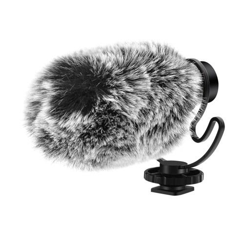 ORDRO CM-100 - Microfone de Gravação Mini Microfone Plug-and-Play de 3,5 mm com proteções contra vento