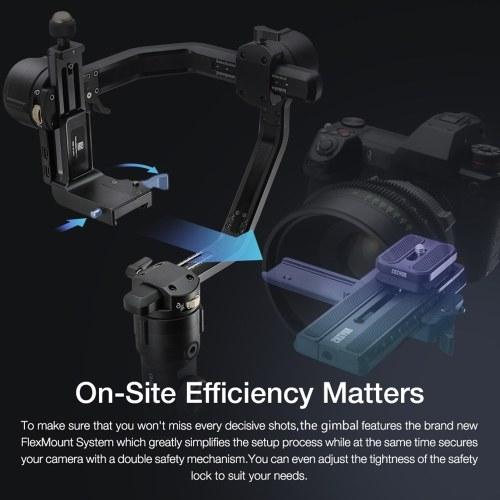Zhiyun CRANE 2S Combo Professional 3-Axis Handheld Gimbal Stabilizer+TransMount Mini Dual Grip Lite+18650 Batteries Kit