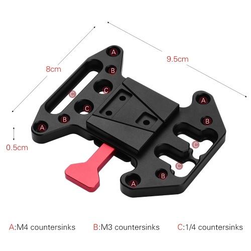 Kit d'assemblage de plaque à dégagement rapide pour adaptateur de batterie à montage en V