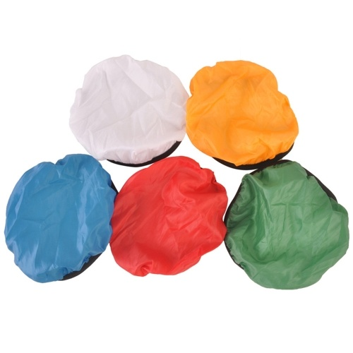 5Pcs Photography Light Shade Stoff Soft Diffusor Cover Blau / Rot / Grün / Weiß / Gelb für 45 ° / 55 ° Studio Light Shade Cover