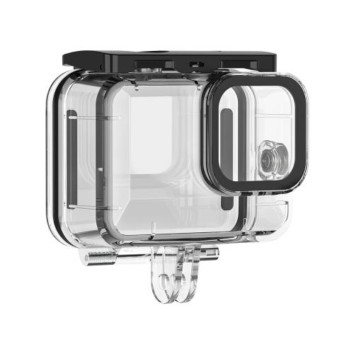 TELESIN Action Camera Protective Wasserdichte Gehäuseabdeckung Unterwasser 45m Tauchgehäuse Unterwasserzubehör Ersatz für GoPro Hero 9 Black Camera
