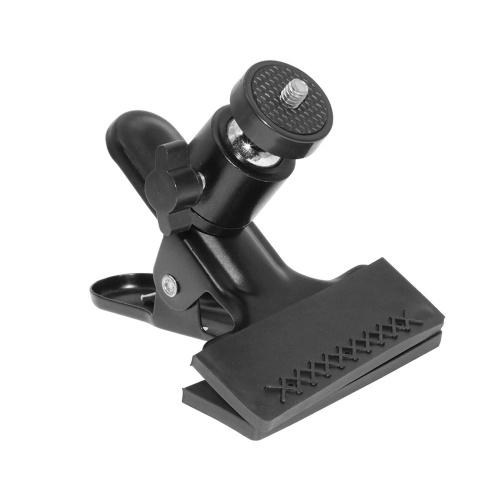 Supporto per morsetto a molla con montaggio a clip per treppiede con vite universale 1/4 a testa sferica