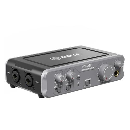 Interface audio USB pour mélangeur audio bicanal BOYA BY-AM1