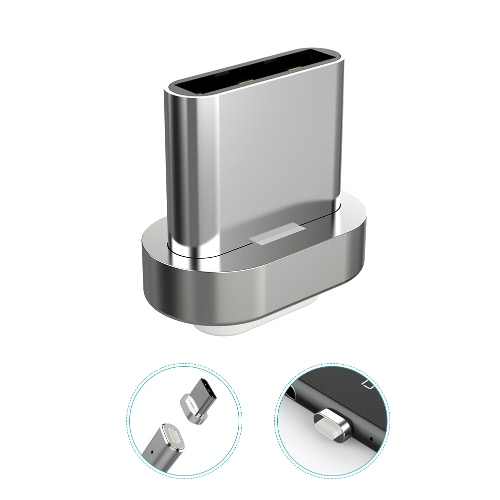dodocool Conector USB-C magnético removível de metal para dodocool Cabo de sincronização de carga magnética destacável Prata