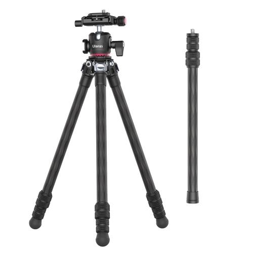 Ulanzi MT-21 136,9 cm / 53,9 pollici Supporto per treppiede in fibra di carbonio per fotografia portatile