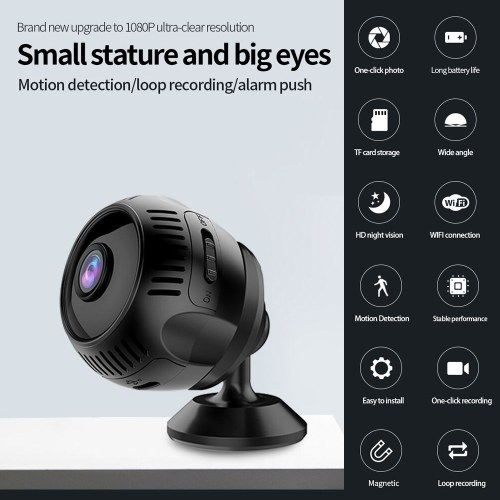 1080P High-Definition Mini Portable Camera Smart WiFi Security Camera