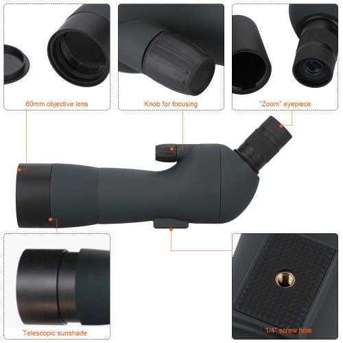 Outdoor 20-60X Zoom Spotting Scope фото