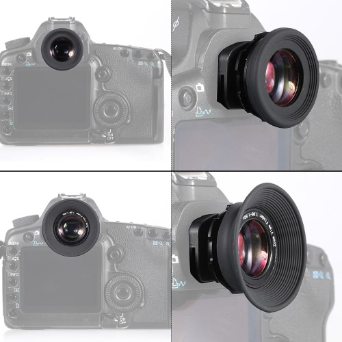 1,08 X-1,60 x Zoom DSLR Kamera Foto Augenmuschel Auge Cup Okular Lupe 6 Typ Ports für Canon Nikon Pentax Sony Olympus Fujifim Samsung Minolta