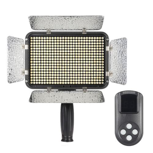 504pcs ビーズ超ハイパワー 5600 K 調光照明スタジオ ビデオ写真パネル ランプ LED ライト照明 LCD 99 チャンネル ワイヤレス リモート コントロールとキヤノン ニコン デジタル一眼レフ カメラの DV ビデオカメラ用のパッドします。