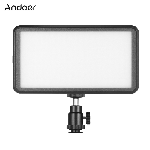 Andoer Ultra-thin Studio Video Photo LED Video Panel de luz de la lámpara 3200K / 6000K 20W Dimmable 228pcs Beads para Canon Nikon DSLR Camera DV Camcorder