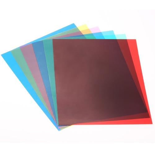6ST 25 * 20cm Transparent Beleuchtung Farbe Korrektur Gel-Platten-Filter-Set für leichte Speedlite Blitz (rot / blau / grün / Cyan / Gelb / Magenta)