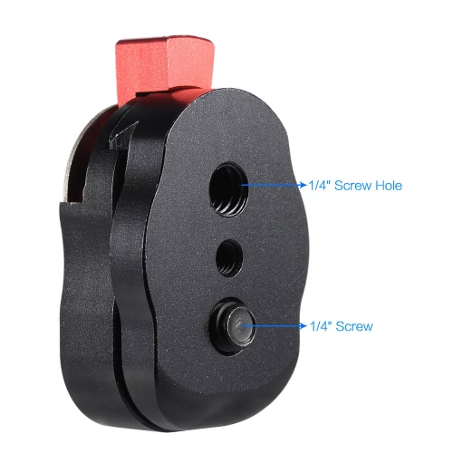 Mini Quick Release Plate for LCD Monitor Magic Arm LED light Camera Camcorder Rig