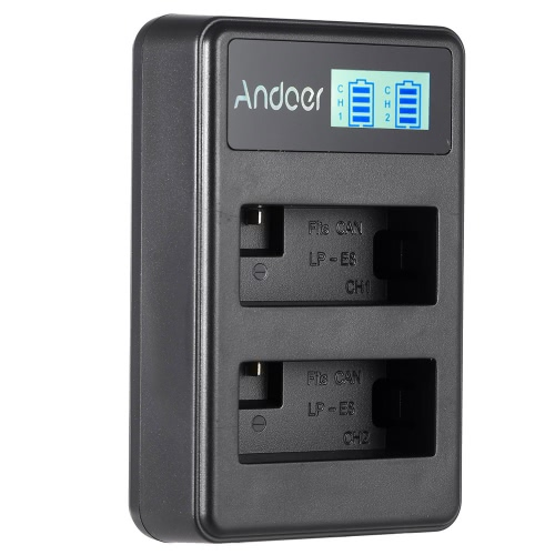 Tomtop coupon: Andoer LP-E8 Rechargeable LED Display Li-ion Battery Charger Pack 2-Slot USB Cable Kit for Canon Rebel T3i T5i T4i T2i EOS 600D 550D 700D 650D Kiss X5 X4 Digital SLR Camera