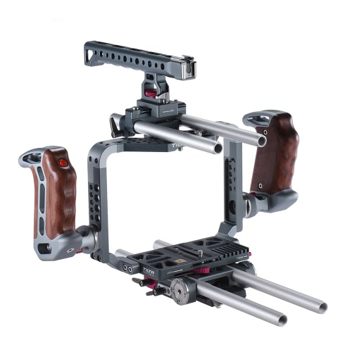 TILTA BMCC Camera Camcorder Video Cage Rig Kit Film Making System with 15mm Rod Handle Grip for   Blackmagic Cinema 4K camera