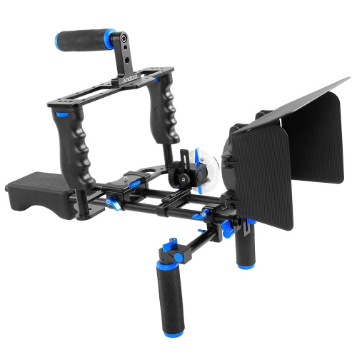 Andoer D100 Aluminum Alloy Camera Camcorder Video Shoulder Mount Kit