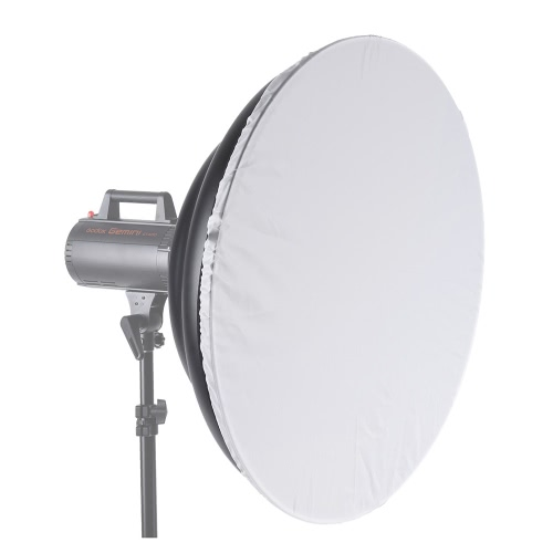 70cm/ 27.6 Inch Waved Beauty Dish Reflector with Honeycomb Soft Cloth Two Mini Reflectors Photography Accessory for Bowens Mount Strobe Studio Flash Light
