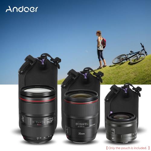 Andoer Odporny na wstrząsy Wodoodporny Pokrowiec Lens DSLR Kit (S + M + L) Extra Thick Miękka torba ochronna Protector Case Zestaw Canon Nikon Sony Tamron obiektyw