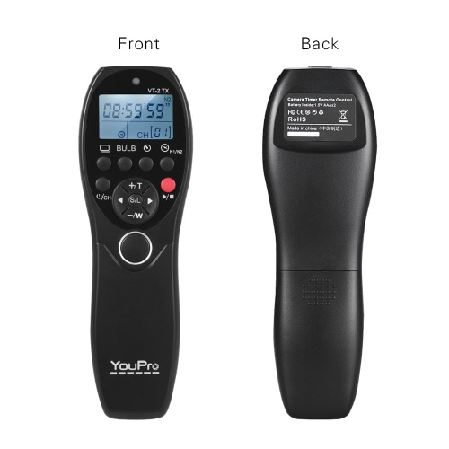 YouPro VT-2 Wireless Remote Control Commander LCD Timer Shutter Release Video Transmitter Receiver for Sony a7 a7R a7S a7 II a7S II a7R II a58 a6300 RX100 Series Camera Camcorder